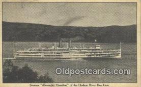 shi009423 - Steamer Alexander Hamilton, Hudson River Day Line, New York, NY USA Steam Ship Postcard Post Cards