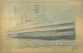 shi009424 - The New Hudson River Steamer, Hendricks Hudson, New York< NY USA Steam Ship Postcard Post Cards