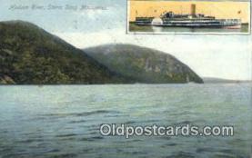 shi009425 - Hudson River Storm King Mountains, New York, NY USA Steam Ship Postcard Post Cards