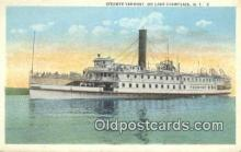shi009433 - Steamer Vermont, Lake Champlain, New York, NY USA Steam Ship Postcard Post Cards