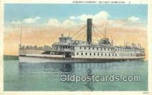 shi009434 - Steamer Vermont, On Lake Champlain, New York, NY USA Steam Ship Postcard Post Cards