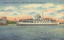 shi009435 - Steamer Mount Washington, II AT The Weirs, Lake Winnipesaukee, New Hampshire, NH USA Steam Ship Postcard Post Cards