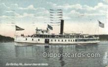 shi009437 - Steamer Siuer DE Monts, Bar Harbor, Maine, ME USA Steam Ship Postcard Post Cards
