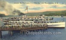 shi009441 - Steamer, Mount Washington, At Alton Bay, Winnipesaukee, New Hampshire, NH USA Steam Ship Postcard Post Cards