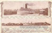 shi009454 - Steamer Puritan Leaving Pier AT Fall River, New York, NY USA Steam Ship Postcard Post Cards