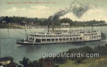 shi009457 - Steam Boat On Ohio River, Ironton, Ohio, USA Steam Ship Postcard Post Cards