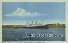 shi009469 - Canadian Pacific Liner Leaving Saint John Harbor, New Brunswick Steam Ship Postcard Post Cards