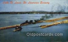shi009473 - The Lake St. Louis -  St Lawrence Seaway, Canada Steam Ship Postcard Post Cards