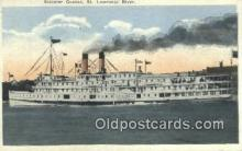 shi009478 - Steamer Quebec, St Lawrence River Steam Ship Postcard Post Cards