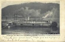 shi009494 - A Familiar Ohio River Scene, Portsmouth, Ohio, OH USA Steam Ship Postcard Post Cards