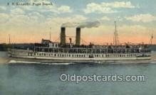 shi009499 - SS Steamer Kennedy, Puget Sound Steam Ship Postcard Post Cards