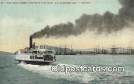 shi009501 - Southern Pacific Companies Ferryboat, San Francisco, Bay, California, CA USA Steam Ship Postcard Post Cards