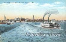 shi009503 - San Francisco Bay, California, CA USA Steam Ship Postcard Post Cards