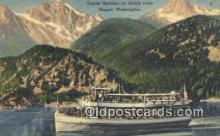 shi009507 - Tourist On Diablo Lake, Skaget, Washington, WA USA Steam Ship Postcard Post Cards