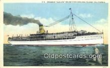 shi009508 - Steamer Avalon, Catalina Island, California, CA USA Steam Ship Postcard Post Cards