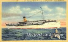 shi009510 - Steamer, Avalon, Santa Catalina, California, CA USA Steam Ship Postcard Post Cards
