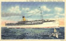 shi009511 - Steamer, Avalon, Santa Catalina, California, CA USA Steam Ship Postcard Post Cards