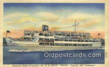shi009524 - Americas Finest Streamliner SS Mount Vernon, Washington DC Steam Ship Postcard Post Cards