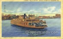 shi009526 - Ferry, City Of Norfolk, Portsmouth, Virginia,  VA USA Steam Ship Postcard Post Cards