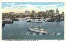 shi009528 - Excursion Boats Baltimore, Maryland, MD USA Steam Ship Postcard Post Cards