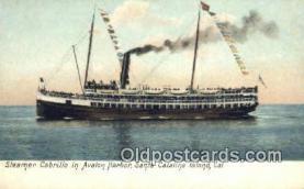 shi009531 - Steamer Cabrillo, Avalon Harbor, Santa Catalina, Island, California, CA USA Steam Ship Postcard Post Cards