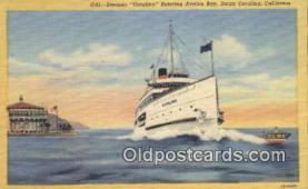 shi009533 - Steamer Catalina, Catalina Island, California, CA USA Steam Ship Postcard Post Cards