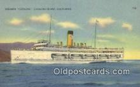 shi009535 - Steamer Catalina, Catalina Island, California, CA USA Steam Ship Postcard Post Cards
