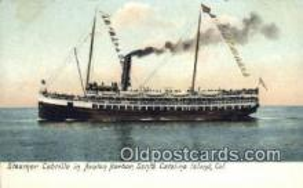 shi009537 - Steamers Cabrillo In Avalon Harbor, Santa Catalina Island, California, CA USA Steam Ship Postcard Post Cards