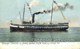 shi009540 - Steamer Cabrillo In Avalon Harbor, Catalina Island, California, CA USA Steam Ship Postcard Post Cards