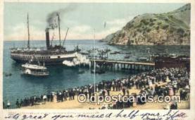 shi009541 - Steamer Cabrillo In Avalon Harbor, Catalina Island, California, CA USA Steam Ship Postcard Post Cards