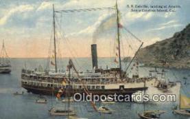 shi009542 - Steamer Cabrillo In Avalon Harbor, Catalina Island, California, CA USA Steam Ship Postcard Post Cards