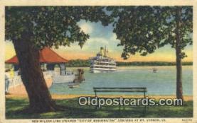 shi009543 - New Wilson Line Steamer City Of Washington, Mount Vernon, Virginia, VA USA Steam Ship Postcard Post Cards