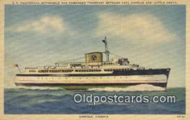 shi009545 - SS Pocahontas Automobile And Passenger Transport, Cape Charles, Norfolk, Virginia, VA USA Steam Ship Postcard Post Cards
