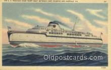 shi009546 - The SS Princess Anne Ferry Boat, Norfolk, Virginia, VA USA Steam Ship Postcard Post Cards