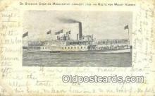 shi009549 - On Steamer Charles Macalester, Mount Vernon, Virginia, VA USA Ferry Postcard Post Card Old Vintage Antique