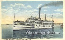 shi009553 - Steamer Favorite, Flagship And Favorite Line Ferry Postcard Post Card Old Vintage Antique