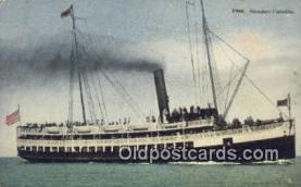 shi009561 - Steamer Cabrillo, Avalon Harbor, Santa Catalina, Island, California, CA USA Steam Ship Postcard Post Cards