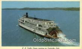 shi009567 - SS Delta Queen Cruising On Kentucky Lake, Kentucky, KT USA Steam Ship Postcard Post Cards