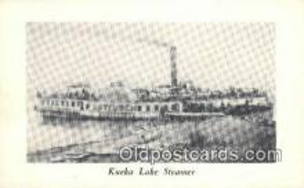 shi009568 - Kueka Lake Steamer Steam Ship Postcard Post Cards