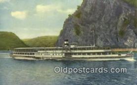shi009572 - Germany, Koln Dusseldorfer Rheindampfschiffahrt Dampfer Ferry Postcard Post Card Old Vintage Antique