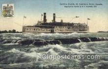 shi009577 - Lachine Rapids, St Lawrence River, Montreal, Canada Steam Ship Postcard Post Cards