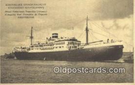 shi009581 - Koninklijke Nederlandsche Stoomboot-Mattaschappi, Amsterdam Steam Ship Postcard Post Cards