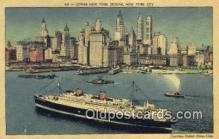 shi009586 - Lower New York, New York, NY USA Steam Ship Postcard Post Cards
