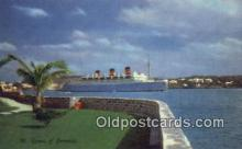 shi009587 - Queen Of Bermuda Steam Ship Postcard Post Cards
