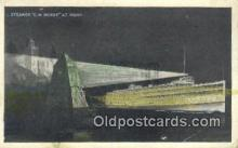 shi009589 - Steamer C.W. Morse At Night Steam Ship Postcard Post Cards