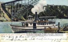 shi009593 - Maid Of The Mist Passing Under Steel Arch Bridge, Niagara Falls, New York, NY USA Steam Ship Postcard Post Cards