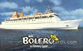 shi009594 - MS Bolerom, Miami, Florida, FL USA Steam Ship Postcard Post Cards