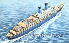 shi009596 - Lauro Lines, MS Achille Lauro Steam Ship Postcard Post Cards