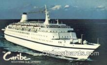 shi009597 - MS Caribe, W Germany Steam Ship Postcard Post Cards