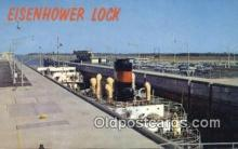 shi009603 - Eisenhower Lock, Massena, NEW York, NY USA Steam Ship Postcard Post Cards